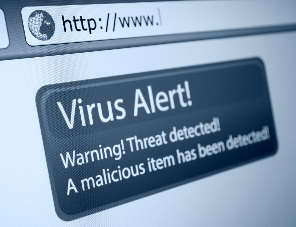 computer repair myths - virus text on screen