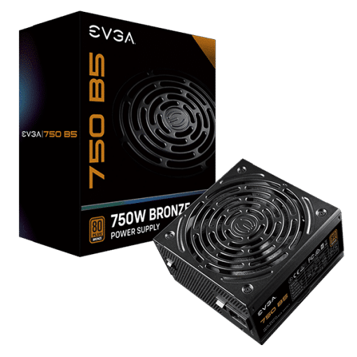 EVGA 750 B5 80+ Bronze ATX Modular Power Supply