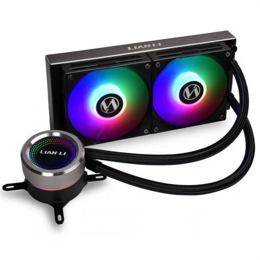 Lian Li GALAHAD 240mm AIO RGB CPU Cooler - Black