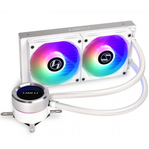 Lian Li GALAHAD 240mm AIO RGB CPU Cooler - White